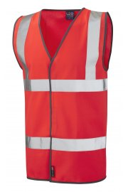 W01-R Tarka Orange Hivis Vests (Small To 6XL)