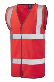 W01-R Tarka Orange Hivis Vests (Small To 6XL)