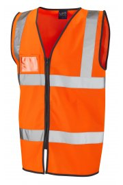 W02-O Rumsan Orange Zipped Hi Vis Vests (Small To 6XL)