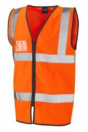 W02-O Rumsan Orange Zipped Hi Vis Vests (Small To 6XL)