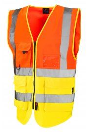 W11-O/Y Lynton Orange Yellow Hi Vis Vests (Small To 6XL)