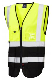 W11-Y/BK Lynton Yellow Black Two Tone Hi Vis Vests (Small To 6XL)