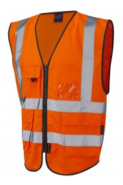 W11-O Lynton Superior Orange Hi Vis Vests (Small To 6XL)