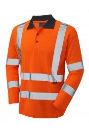 P05-O Class 3 Swimbridge Poly/Cotton Long Sleeve Polo Shirt (Small To 6XL)