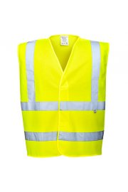 FR70 Flame Retardent Yellow Hi Vis Vests (Small To 5XL)