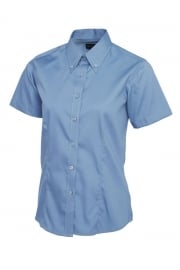 UC704 Ladies Pinpoint Short Sleeved Oxford Shirt (Size 8 to Size 24)