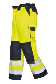 TX51YN Lyon Hivis Trousers (Small To 2XL) Yellow/Navy