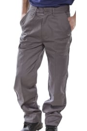 PCT9G Click Grey Heavyweight 9oz Polycotton Work Wear Trouser