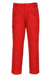 S887RE Action Trousers Red