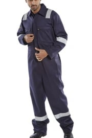 CFRASSBBSN Burgan FR/AS LightWeight Boiler Suit Navy (SmallTo6XL)