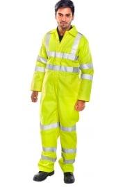 CFRASTEBSY Click Tesla FR/AS Boiler Suit Yellow (XS To 6XL)
