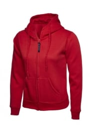UC505 Ladies Classic Full Zip Hooded SweatShirt (XSmall to 3Xlarge)