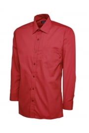 UC709 Mens Poplin Full Sleeve Shirt (Collar Size 14.5 To 19.5)