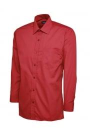 UC709 Mens Poplin Full Sleeve Shirt (Collar Size 14.5 To 19.5)