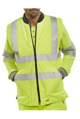 Click BWENG Hi-Vis  Reversible Bodywarmer (Small To 5XL)