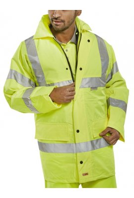 Beeswift TJ8 Light Weight Unlined Hi Visibility Jacket (Small To 6XL)