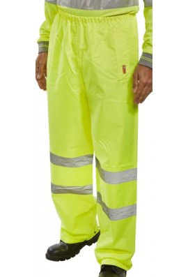 Beeswift B DRY TEN  Hi Visibility Overtrousers (Small To 5XL)