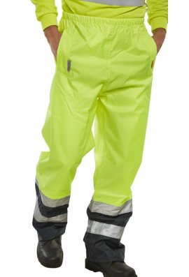 Beeswift BET Class 1 Belfry Two Tone Breathable Overtousers (Small To 3XL)