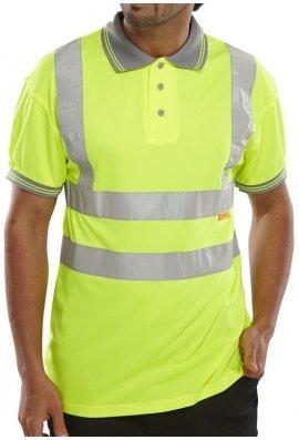 Beeswift BPKSEN Hi-Visibility Polo Shirt (Small To 4XL)
