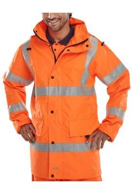Beeswift JJ Jubilee Breathable Jacket (Rail Spec In Orange) (Small To 4XL)