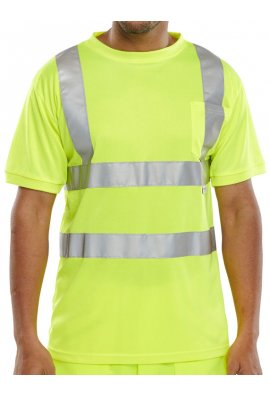 Beeswift BSCNTSEN Seen Hi-Visibility T- Shirt (Small To 3XL)