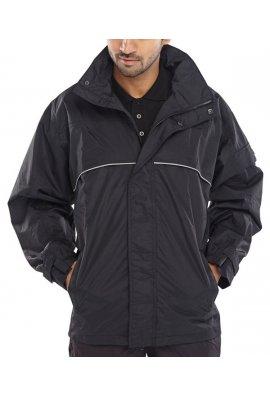 Beeswift SJB Springfield Taslon Coated Breathable Jacket (Black Xlarge and 2Xlarge Limited Stocks)