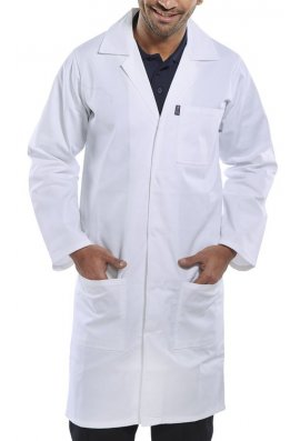 Beeswift PCWC Polycotton Warehouse / Lab  Coat (Size 28 To 60) 4 COLOURS