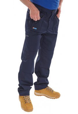 Beeswift AWTN Click Navy Action Work Trouser Zipped Pockets