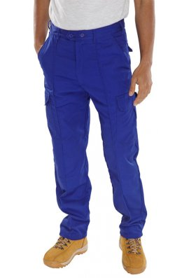 Beeswift PCTHWR Royal Blue Super Click Workwear Trousers