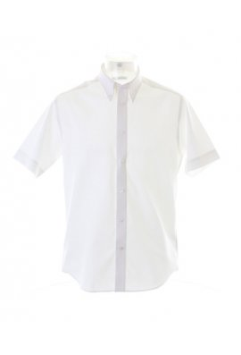 Kustom Kit KK187  Premium Short Sleeved Oxford Shirt TaIlored Fit (Collar size 14.5 To 19.5)  3 COLOURS