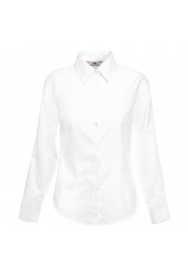 Fruit Of The Loom SS001 Ladies Fit Long Sleeved Oxford Shirt (XSmall  TO 3XLarge )  5 COLOURS