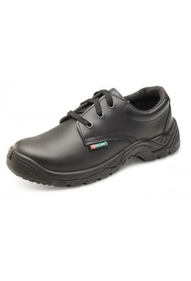Beeswift CDDSTS Black Smooth Leather Tie Shoe (SIZE 6 TO 12)