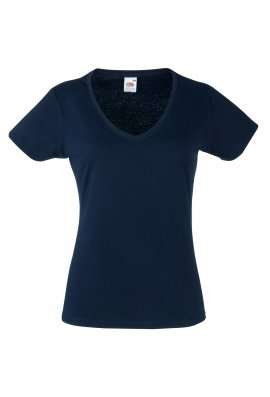 Fruit Of The Loom SS047 Ladys Fit ValueWeight V-Neck T-Shirt (XSmall To 2XL) 8 CLOURS