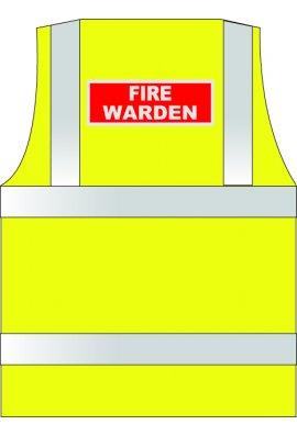 HVW LTD WCENGFW Fire Warden Hi Vis Vests (Xsmall To 6XL)
