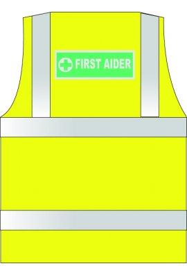 HVW LTD WCENGFA First Aid Hi Vis Vests (XSmall To 6XL)