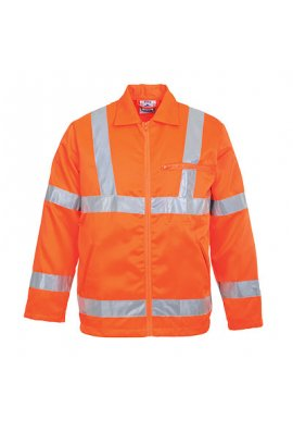 Portwest RT40 Hi-Vis Poly-Cotton Jacket GO/RT (Small To 3XL)
