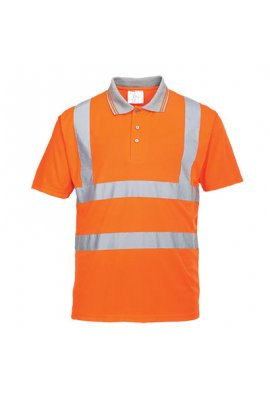 Portwest RT22 Hi Vis Short Sleeved Polo GO/RT (XSmall To 5XL)
