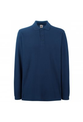 Fruit Of The Loom SS258 Premium Long Sleeve Polo (Small To 3XL) 6 COLOURS