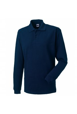 Russell J569L Long Sleeve Classic Cotton Polo (XSmall to 2XL) 4 COLOURS