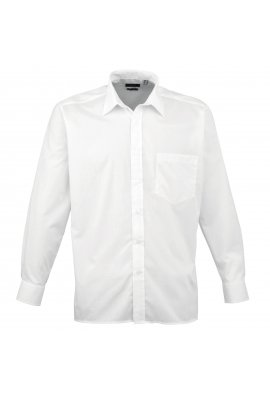 Premier PR200 Long Sleeve Poplin Shirt  (Collar Size 14.5 to 23 Inch)  15 COLOURS