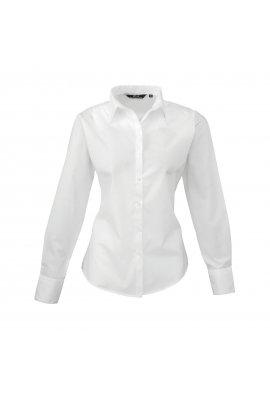 Premier PR300 Ladies Fit  Poplin Long Sleeve Shirt  (Size 8 To 24) 16 COLOURS
