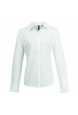 Premier Women's Signature Oxford Long Sleeved Shirt (Size 8 to 24) 3 COLOURS