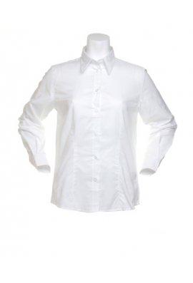 Kustom Kit KK361 Womens Workplace Oxford Long Sleeved Blouse  (Size 8 To 20)  4 COLOURS