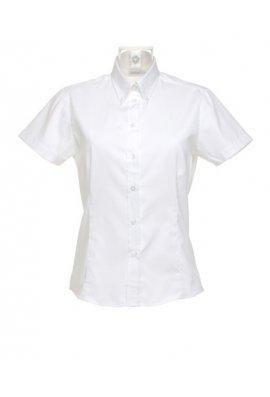 Kustom Kit KK701 Womens Corporate Oxford Short Sleeved Blouse (Size 8 To Size 26)  7 COLOURS