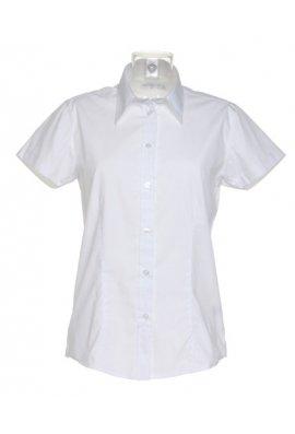 Kustom Kit KK728 Womens Workforce Short Sleeved Blouse  (Size 8 To Size 28)  3 COLOURS