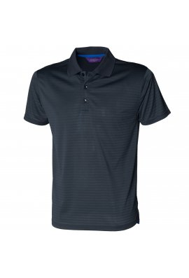 Henbury HB473 CoolTouch Textured Stripe Polo (Small to 2XLarge) 3 COLOURS