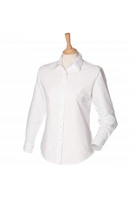 Henbury HB511 Womens Long Sleeved Classic Oxford Shirt  (XS To 4XL)  2 COLOURS