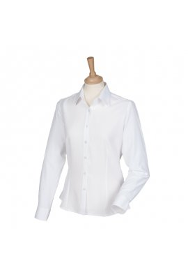 Henbury HB591 Womens Wicked Anti-Bacterial Long Sleeved Shirt  (XS To 4XL)  6 COLOURS