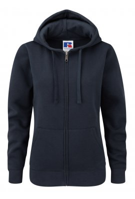 Russell J266F Ladies Fit  medium Weight Zipped Hooded Sweatshirt (Xsmall to Xlarge) 5 COLOURS