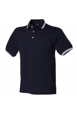 Henbury HB150 Tipped Collar And Cuff Polo Shirt (Small to 2XLarge) 4 COLOURS